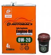 AUTOBACS Synthetic Engine Oil 0w20 SN/GF-5   4л | Акция + Ароматизатор AB AUG CHAO LATTE AROMA