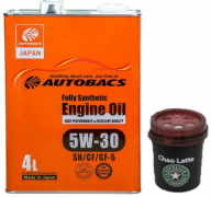AUTOBACS Fully Synthetic 5w30 SN/CF/GF-5   4л | Акция + Ароматизатор AB AUG CHAO LATTE AROMA