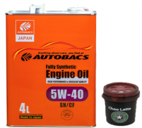 AUTOBACS Fully Synthetic 5w40 SN/CF   4л | Акция + Ароматизатор AB AUG CHAO LATTE AROMA