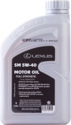 LEXUS Motor oil Full Synthetic SM 5W-40   1л | ОАЭ